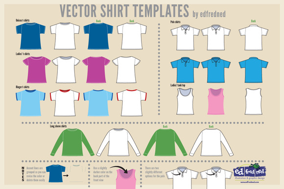 Vector Shirt Templates
