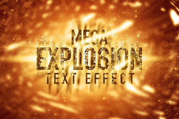 Mega Explosion Text Effect