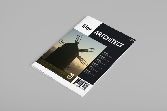 InDesign Magazine Template 20 Pages