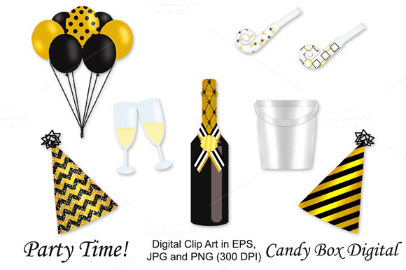 Gold Party Clip Art