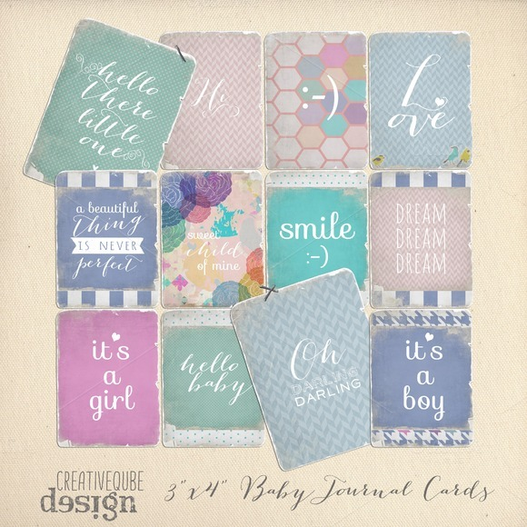 Journaling Cards Baby Quotes