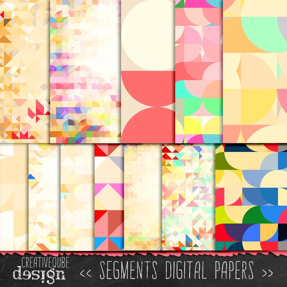Segments Pattern Digital Paper