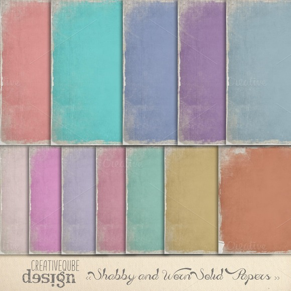 Shabby And Worn Digital Papers