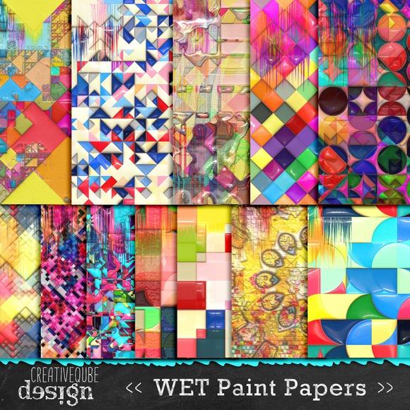 Digital Paper Pack Wet Paint