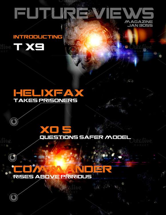 Sci-Fi Magazine Cover