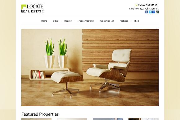 Locate WordPress Real Estate Theme