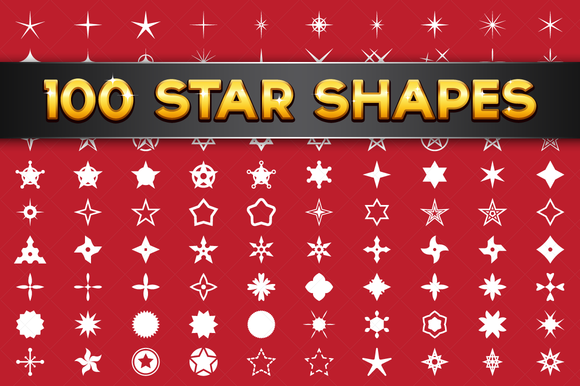100 Vector Star Shapes