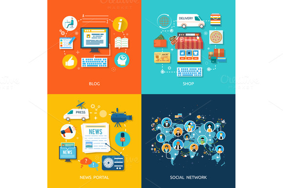 Social Media And Network Connection