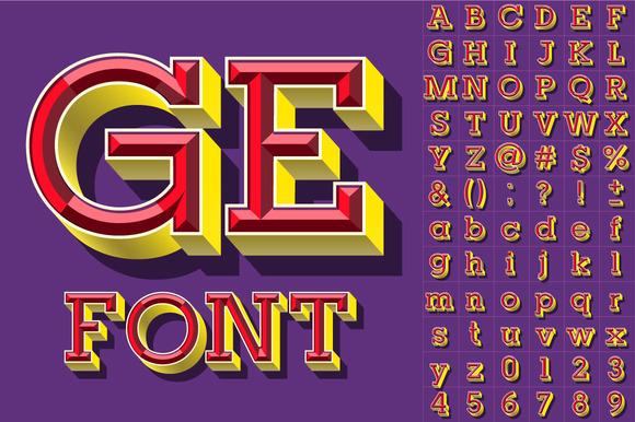 Colorful Beveled Alphabet