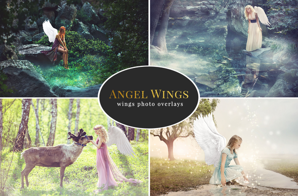 Angel Wings Photo Overlays