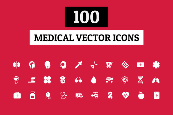 100 Medical Vector Icons
