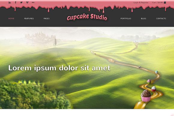Cupcake Studio Bootstrap Site Theme