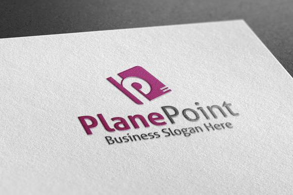 Plane Point Style Logo