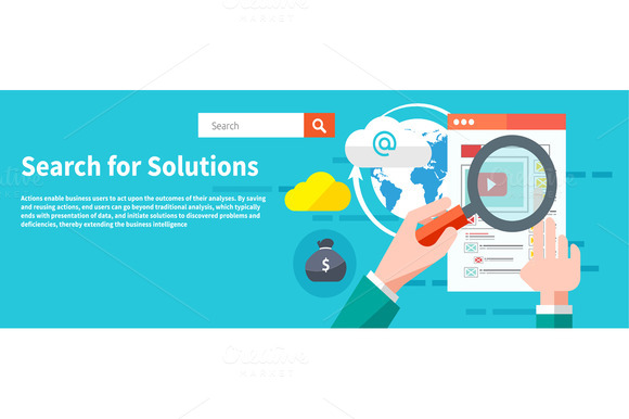 Search For Solutions Infographics