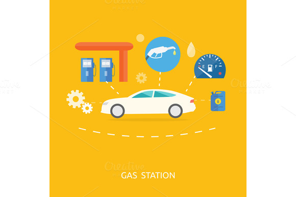 Car In Gas Station Fuel Petrol
