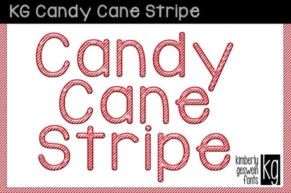 KG Candy Cane Stripe Font