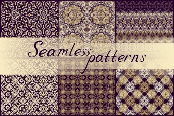 Set Of Ornamental Textures