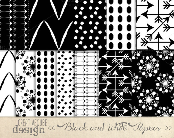 Digital Papers Black And White