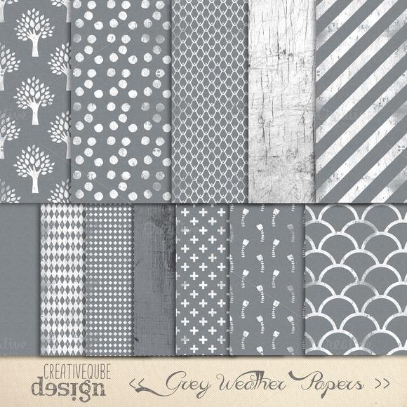 Digital Paper Pack Grey