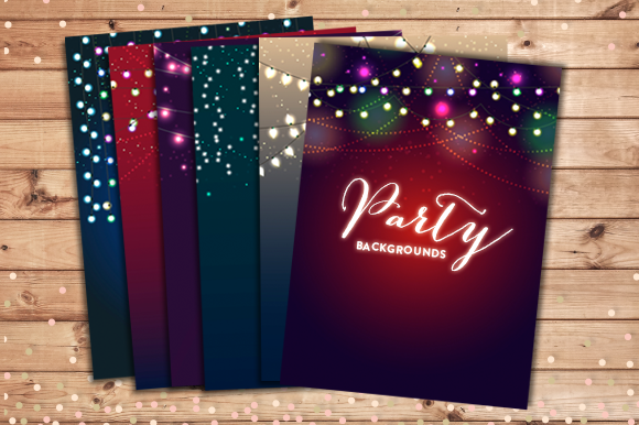 Party Lights Backgrounds EPS And JPG