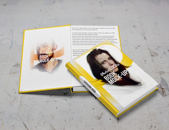 Book Mockup Photo Realistic 9