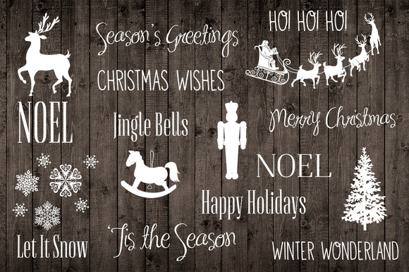 Holiday Christmas Word Photo Overlay