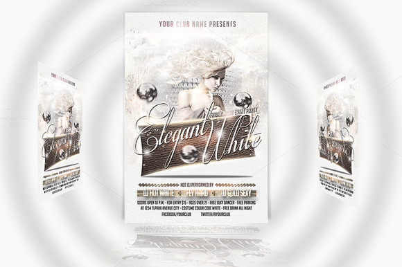 Elegant White Party Flyer