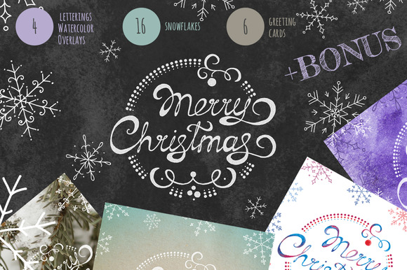 Christmas Overlays Cards Set