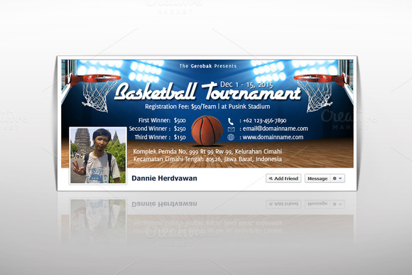 Basketball Tournament Facebook Cover