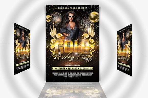 Gold Friday Party Flyer