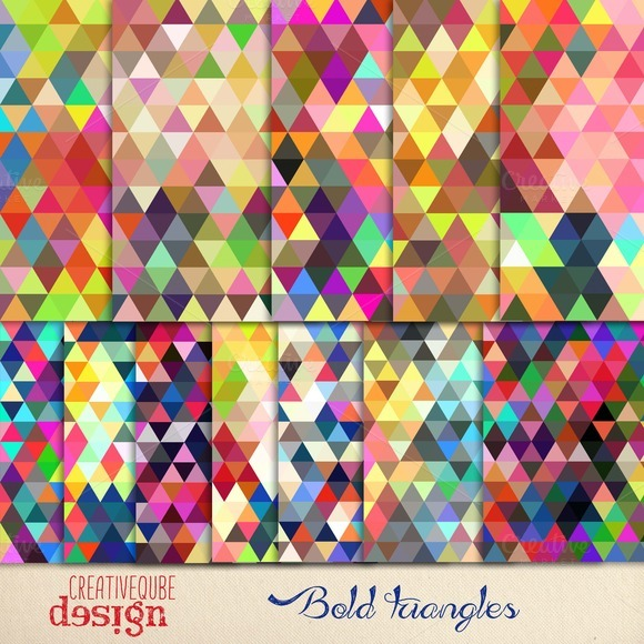 Bold Triangles Seamless Paper