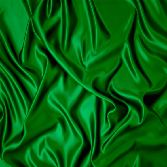 Green Satin Fabric