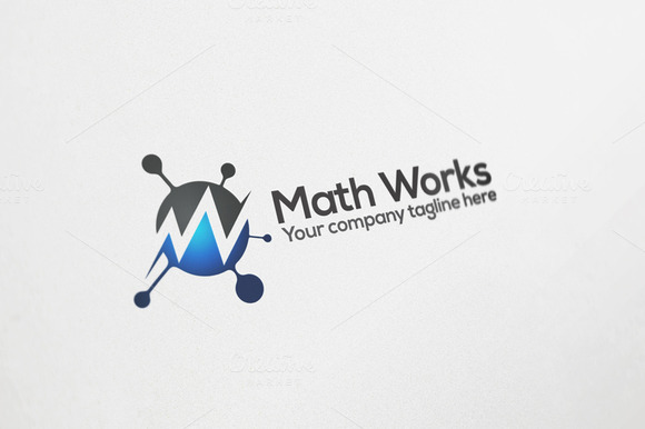Math Works Logo Design
