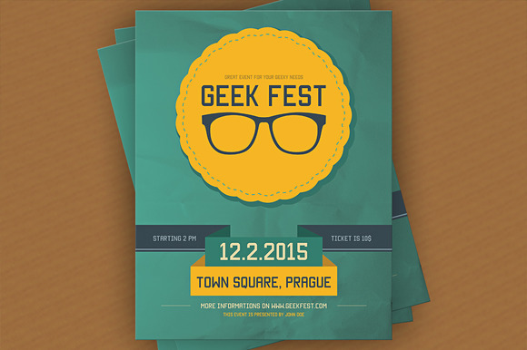 Geek Fest Flyer Template