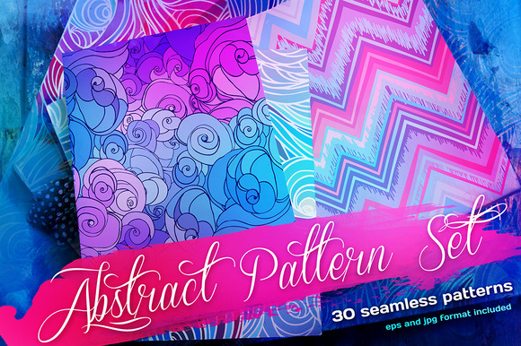 Abstract Seamless Patterns Set