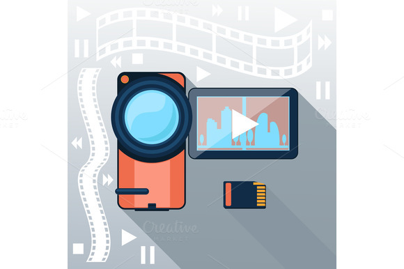 Video Camera With Cinema Tape
