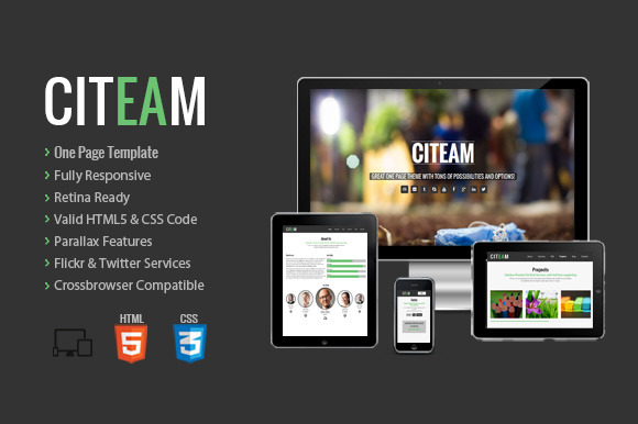 Citeam Onepage Multipurpose Temp