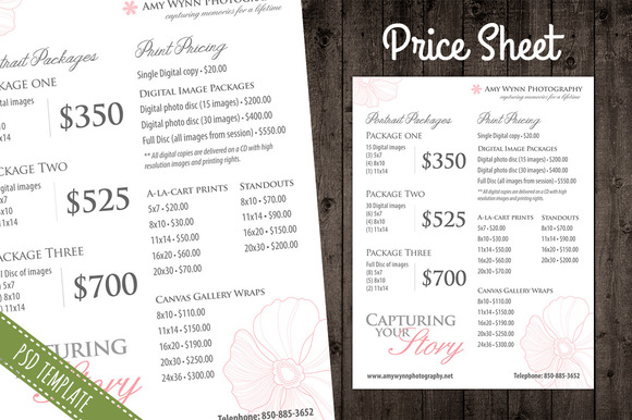 Price List Template Pricing Sheet