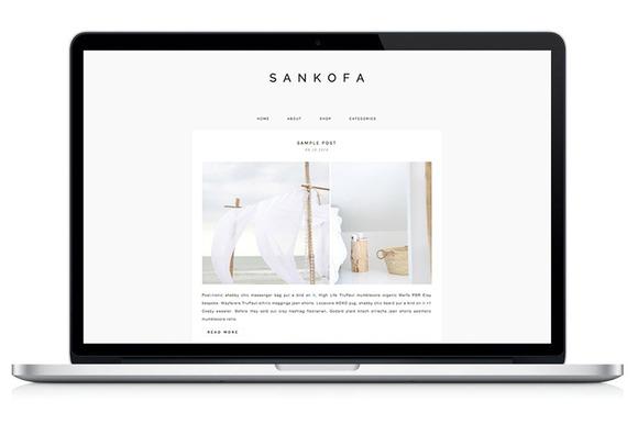 Responsive WP Theme Sankofa