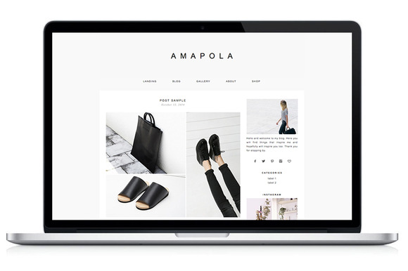 Responsive WP Theme Amapola