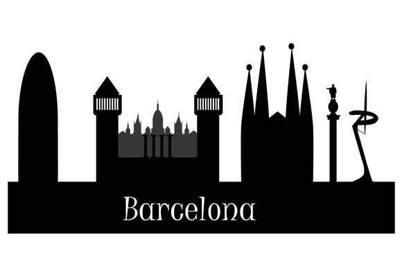 Silhouette Of Barcelona