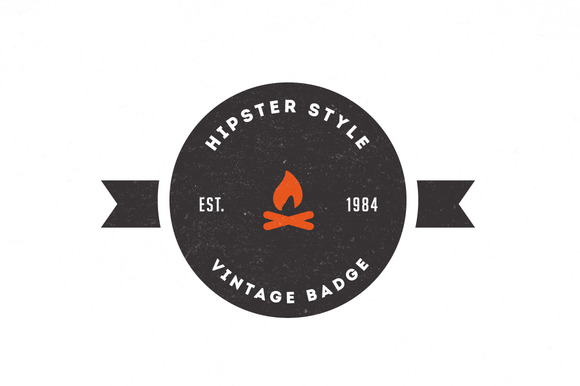 Trendy Vintage Logos Badges