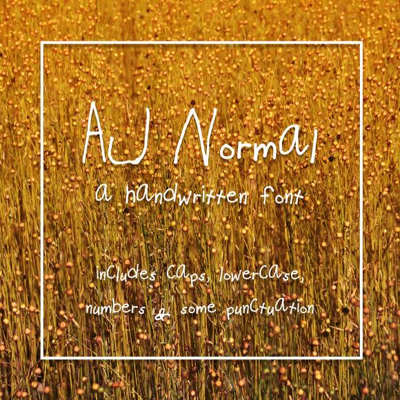 AJ Normal Hand Drawn Print Font