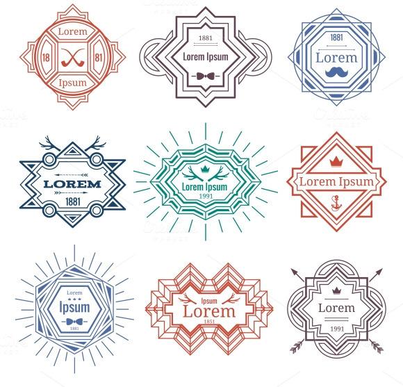 Hipster Modern Emblems