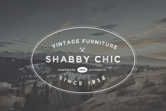 Vintage Furniture Logo Badge Emblem
