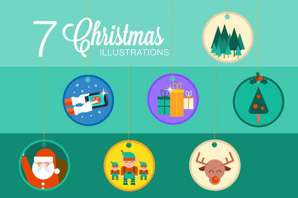 7 Christmas Illustrations