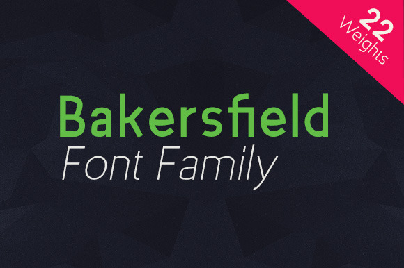Bakersfield Font Family