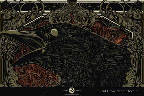 Dead Crow Vector Format