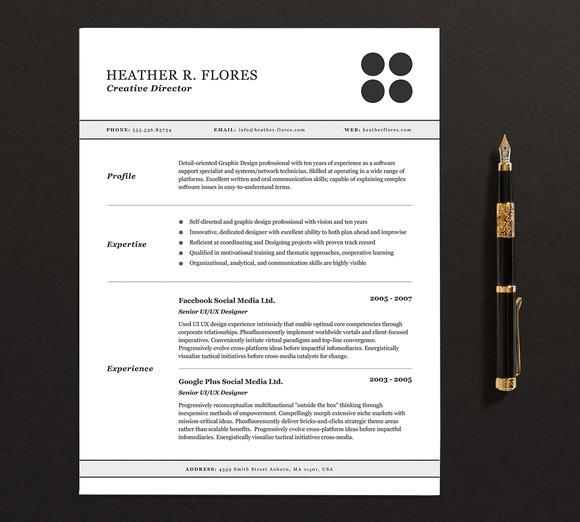 Resume CV Template Full Set 5 Pack