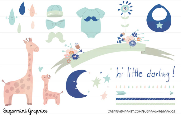 Baby Shower Clip Art Boy Babyboy